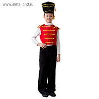 """Детский карнавальный костюм """"Гусар"""", люкс, 5-7 лет, рост 122-134 см"""