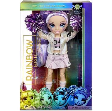Кукла Рейнбоу Хай - Вайолет Уиллоу - Rainbow High Cheerleader Squad Violet Willow purple