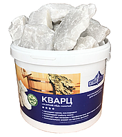 Камни для банных печей Кварц Жаркий лёд