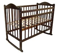 Кровать 01 колесо-качалка, темная (Мой малыш, Россия)