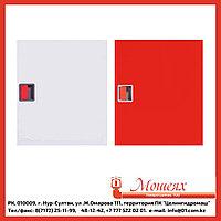 Дверь ЗБ/ЗК для ШПК-310 (закрытая белая/красная) евроручка