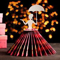 Салфетница 'Девушка с зонтиком', 25x13x13 см