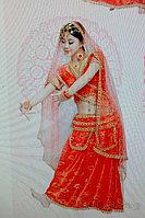 Прокат индийского красного костюма в Алматы. сари танцевальные