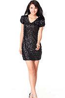 Прокат короткого вечернего платья. Чёрный цвет