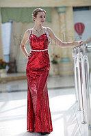 """Красное вечернее платье модель """"Рыбка"""". Алматы прокат"""