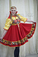 Русские народные костюмы Алматы аренда. Хохломская роспись
