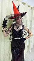 Карнавальные костюмы на Хеллоуин. Прокат в Алматы. Чёрная ведьма