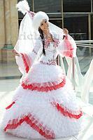 Казахское платье На узату. Радуга яркая