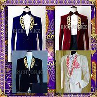 Прокат мужских казахских костюмов с орнаментом в Алматы | Театральные