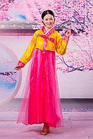 Корейские национальные костюмы на прокат Алматы | Женский Ханбок. Роза