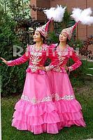 Прокат казахского национального платья pink bud (розовый бутон)| Алматы аренда