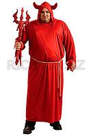 Костюм на Хэллоуин Demon (Демон) красный | Мужской животик вполне