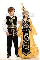 Прокат народных казахских костюмов Алтын К йлек ( Золотое Платье) лучшее