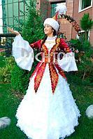 Национальный народный казахский костюм женский Азиада (Aziada) | Яркий