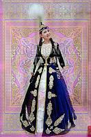 Казахские красивые платья(koylek) на прокат Алматы| синий камзол