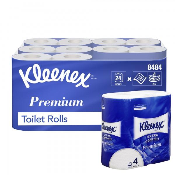 Туалетная бумага в стандартных рулонах Kleenex Premium Extra Comfort 8484