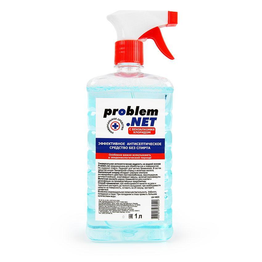 Жидкость антисептическая PROBLEM.NET флакон с распылителем 1 л.