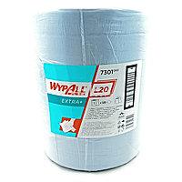 Протирочный материал в рулонах двухслойный голубой WypAll L20 Extra+ 7301 (500 листов в рулоне)