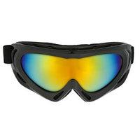 Очки для езды на мототехнике TORSO, с доп. вентиляцией, стекло хамелеон, черные