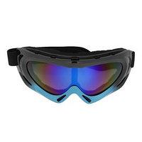 Очки для езды на мототехнике TORSO, с доп. вентиляцией, стекло хамелеон, черно-синие