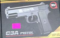 Детский металлический страйкбольный пистолет airsoft gun Модель C3A