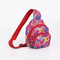 Сумка-рюкзак, отдел на молнии, наружный карман, дышащая спинка, цвет розовый