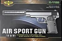 Детский металлический страйкбольный пистолет airsoft gun Модель K112S