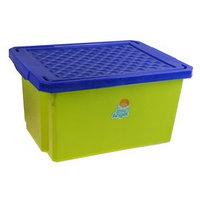 Ящик для игрушек Little Angel 'Лего' с крышкой, 17 л, цвет фисташковый