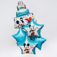 Набор фольгированных шаров 'Happy Birthday', Микки Маус 36'