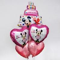 Набор фольгированных шаров 'Happy Birthday', Минни Маус 36'