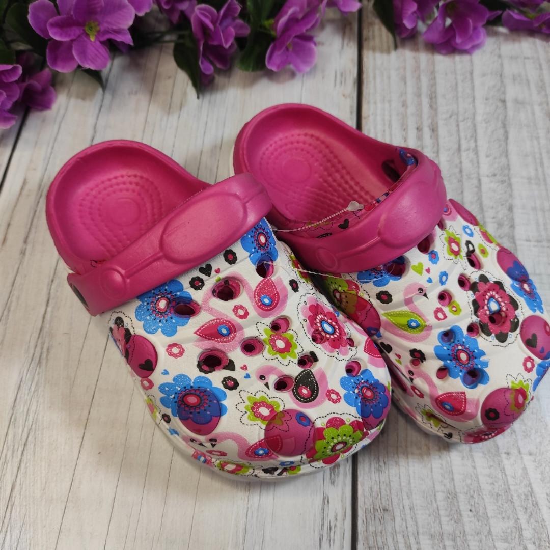Кроксы детские , цвет ярко-розовый, 29 размер