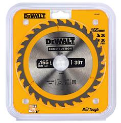 Пильный диск CONSTRUCTION по дереву с гвоздями 165/30 30 ATB +10° DEWALT DT1937-QZ