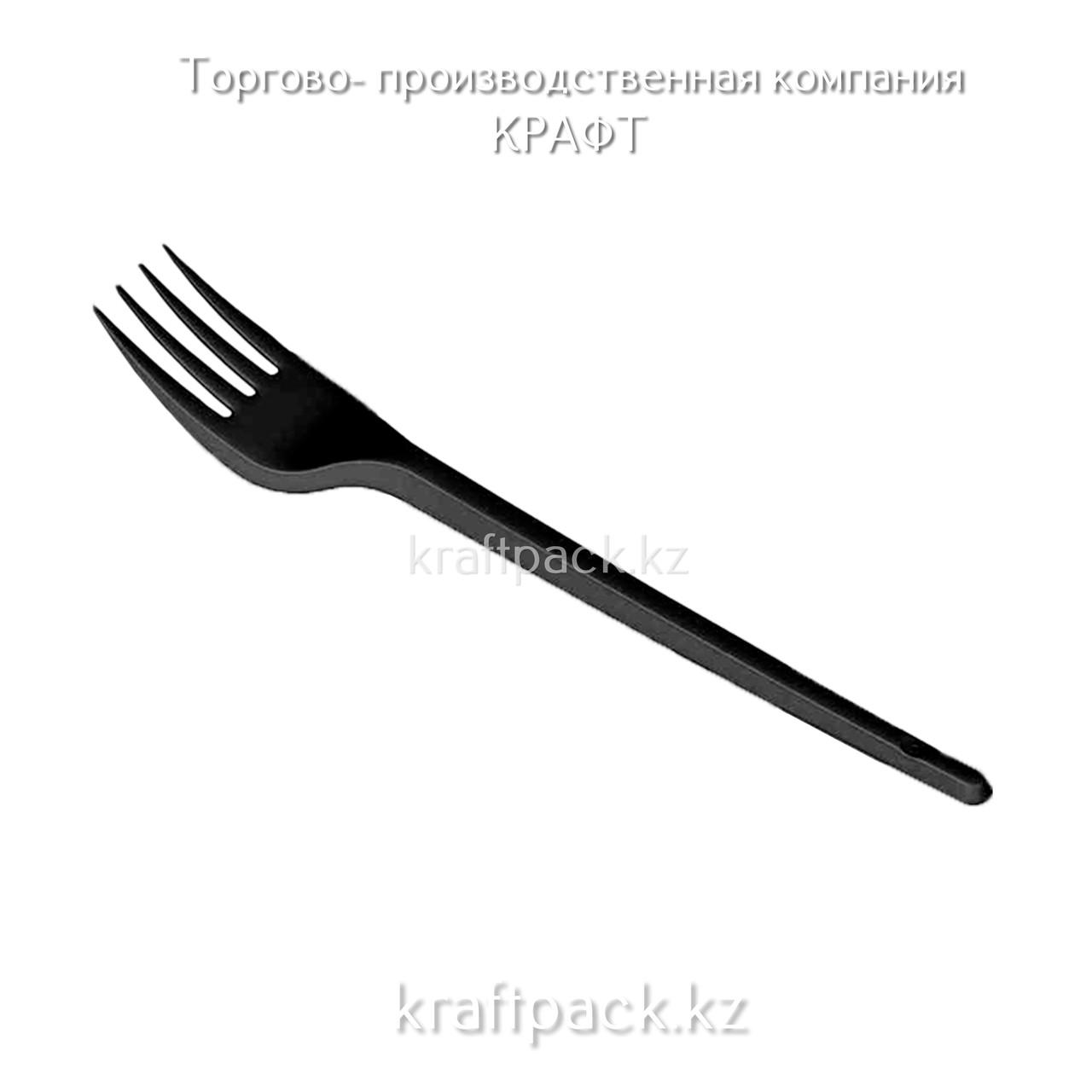 ВИЛКА пластиковая, ЧЕРНАЯ 165мм Премиум ОРЕЛ (100/2200)