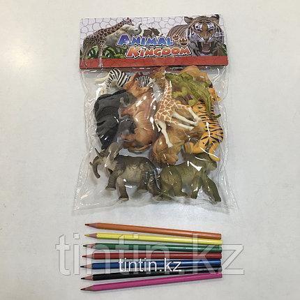 Набор из 10 резиновых диких животных, фото 2