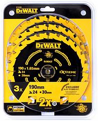 Набор пильных дисков DEWALT DT10399, 190 x 20 24-, 3 шт.
