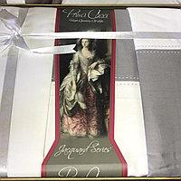 Постельное белье Prima Casa - Сатин Де Люкс Бело- Серые полосы(комплект евро)