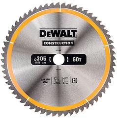 Пильный диск по дереву с гвоздями DEWALT, DT1960-QZ, 305 x 30 мм, 60 зубов