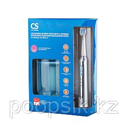 Электрическая звуковая зубная щетка CS Medica с зарядным устройством и ультрафиолетовым дезинфектором.