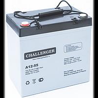 Аккумулятор для лодочного мотора Challenger A12-55A (12В, 55Ач), фото 1