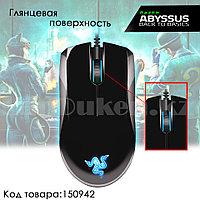 Проводная игровая мышь оптическая глянцевая световая LED USB 3500 dpi Razer Abyssus