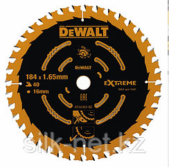 Пильный диск EXTREME по дереву 184/16 1.0/1.65 Z40 DEWALT DT10303-QZ