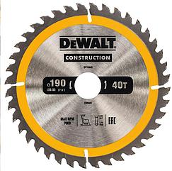 Пильный диск DeWALT Construction DT1945-QZ 190х30 мм