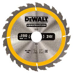 Пильный диск по дереву DEWALT 190x30мм 24T DT1944