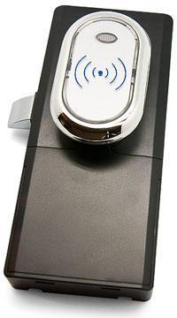Z-396 EHT (серебро) Электронный замок для деревянной/металич. мебели с питанием от батареек