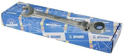 Набор ключей кованых комбинированных с храповиком и шарнирной головкой в картонной коробке - 161CB UNIOR