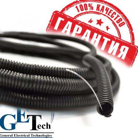 Труба гофра ПВХ черная d 32 для прокладки кабеля. Гофротруба 32 мм