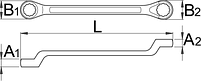 Ключ накидной с изгибом - 179/2 UNIOR, фото 2