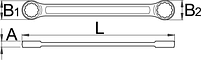 Ключ накидной плоский - 182/2A UNIOR, фото 2