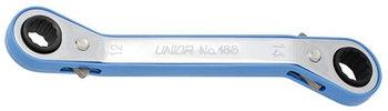 Ключ накидной изогнутый с храповиком - 166 UNIOR