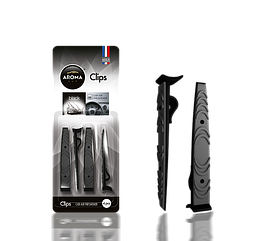 Ароматизатор на дефлектор сухой Clips Black, Aroma